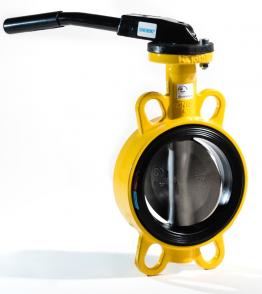 Gas Klappe GKZ DN125 mit Handhebel